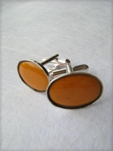 Picture of Handcrafted Cuff links - Yellow Sunset