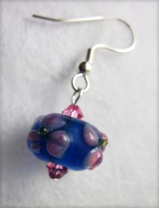 Picture of A Flower of Pink and Blue Earrings