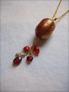 Picture of Murano round red necklace