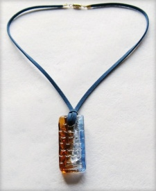 Picture of Chocolate and stormy sky pendant